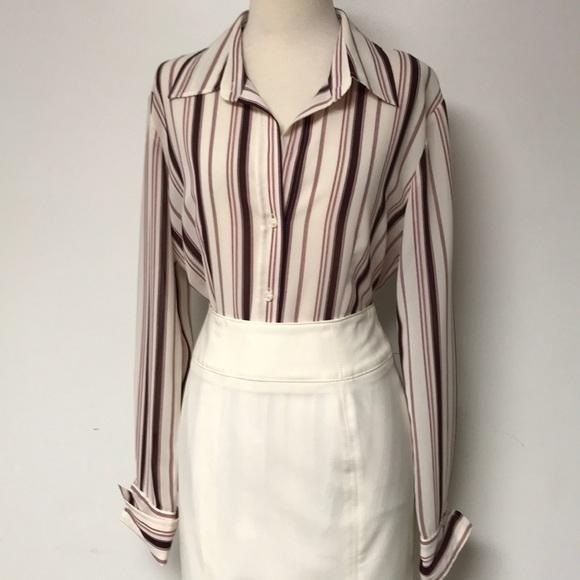 21e011da New York & Company Tops | New York Co Striped Button Down Top | Poshmark